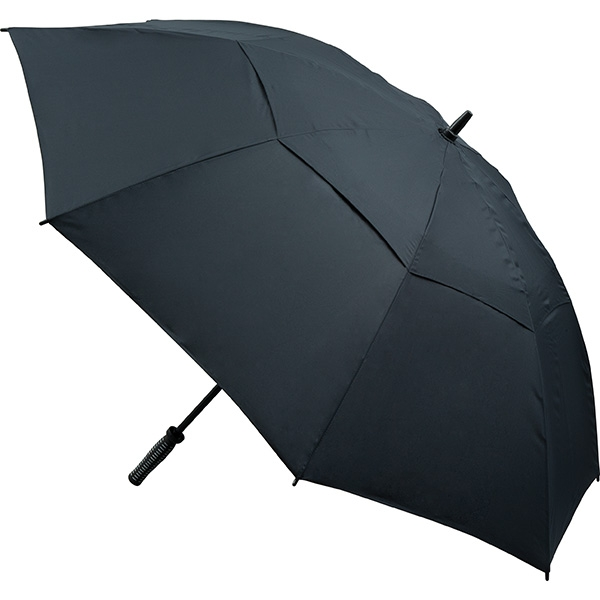 Vented Golf Umbrella (All Black)