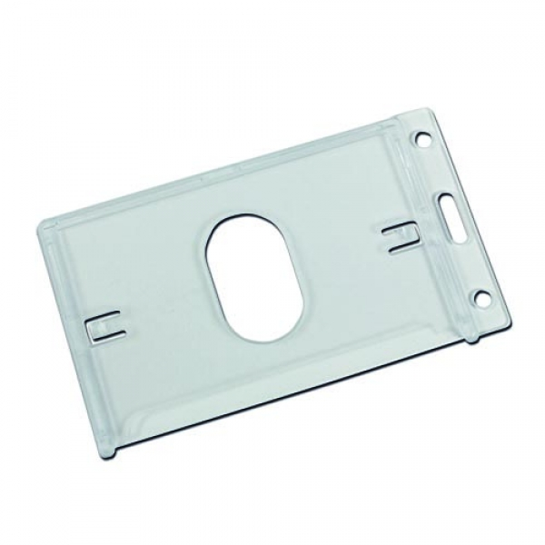 Plastic Card Holder With Thumb Ejection Slot (Portrait)