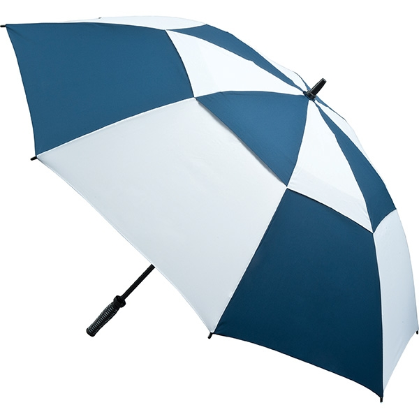 Vented Golf Umbrella (Navy & White) - UMV0704