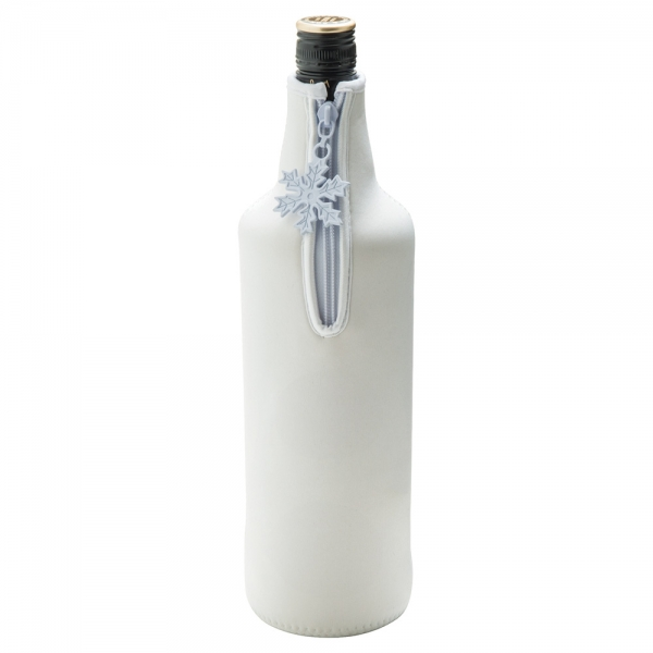 Neoprene Zipped Bottle Cooler For Spirits Or Champagne