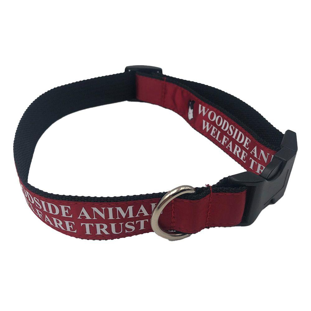 Printed Satin Applique Dog Collar