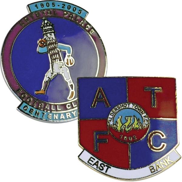 Stamped Iron Hard Enamel Badge (15mm)