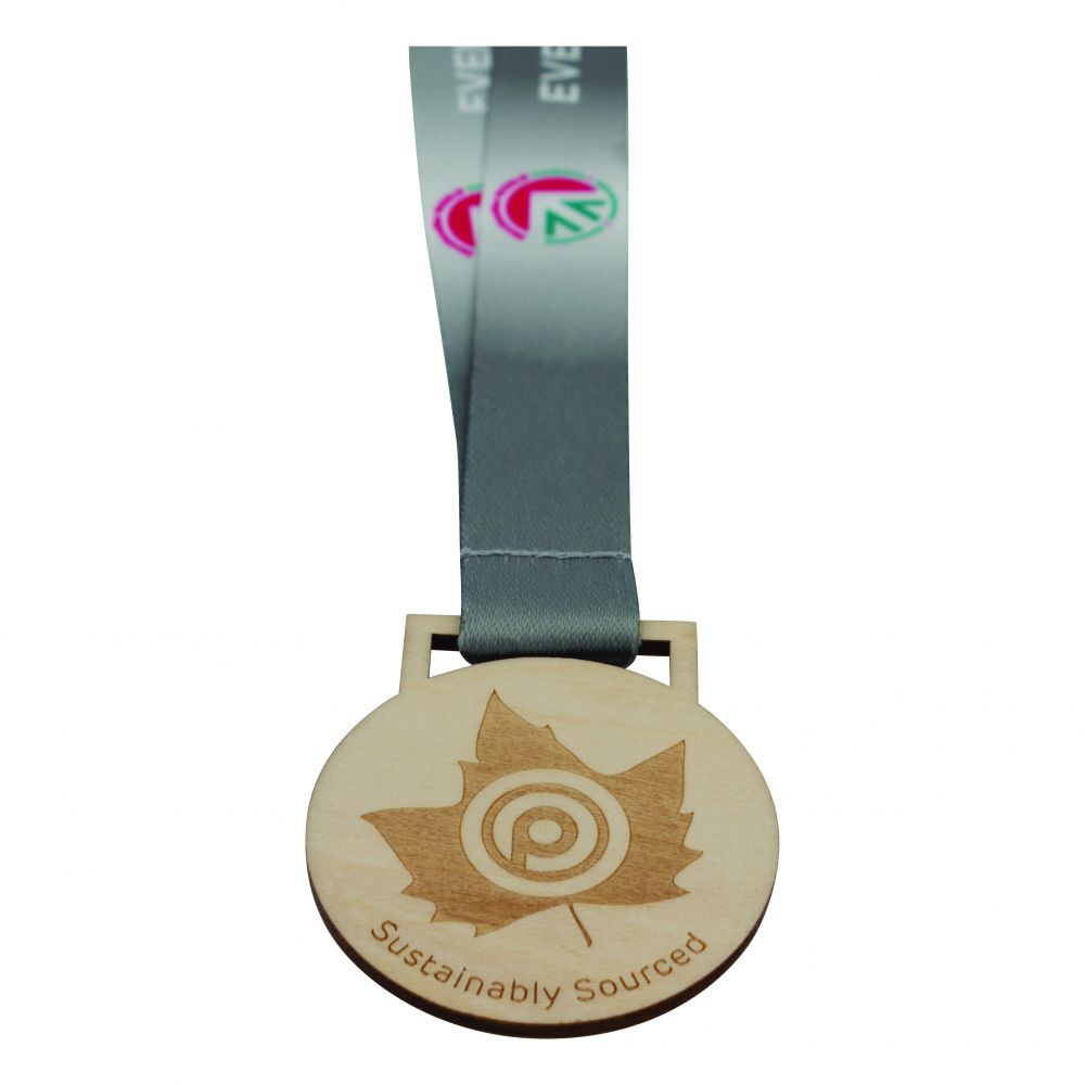 60mm Wooden Medal