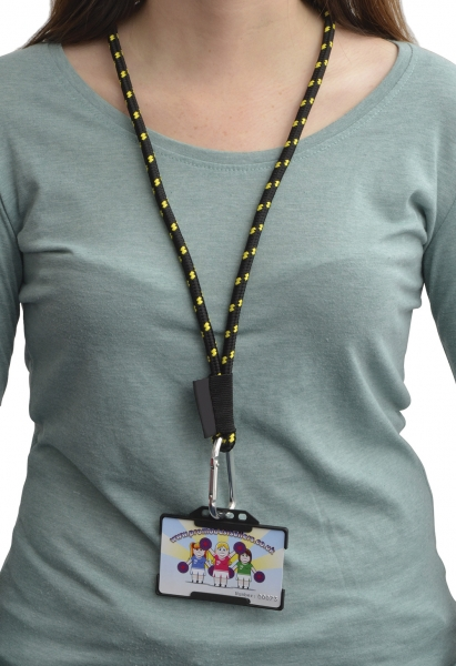 Rope Lanyard with Embroidered Label