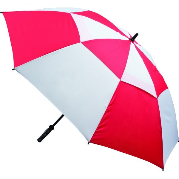 Vented Golf Umbrella - Red and White