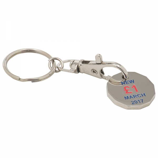Trolley Coin Keyring (Stamped Iron Soft Enamel Infill)