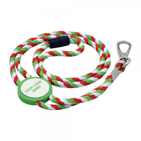 Rope Lanyard with Tab Insert