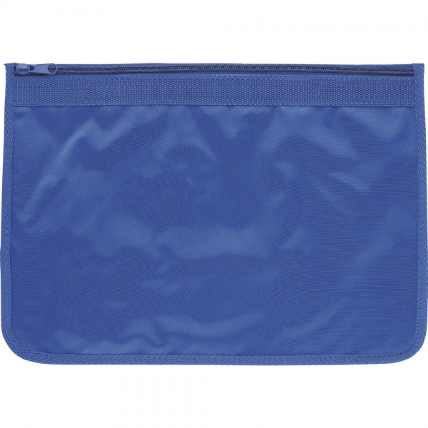 Nylon Document Wallets - All Royal Blue