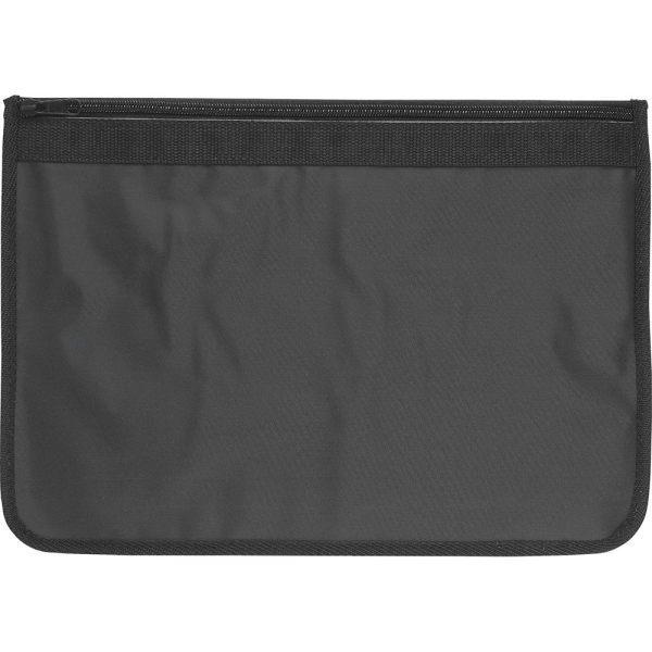 Nylon Document Wallets - All Black