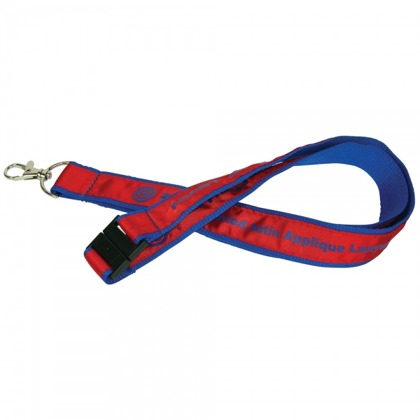 25mm Woven Applique Lanyard