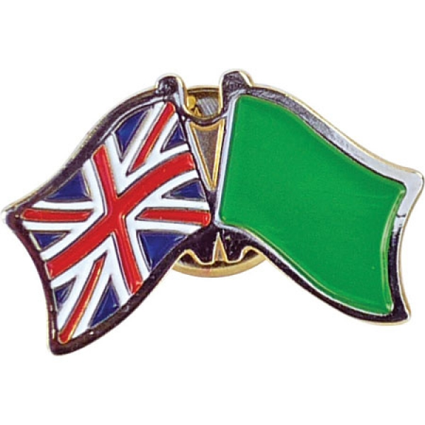 Stamped Iron Soft Enamel Metal Badge