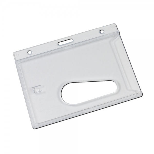 Plastic Card Holder With Thumb Ejection Slot-Landscape
