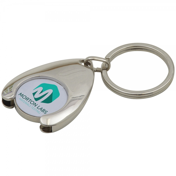 Wishbone Trolley Coin Keyring (Full Colour Print)