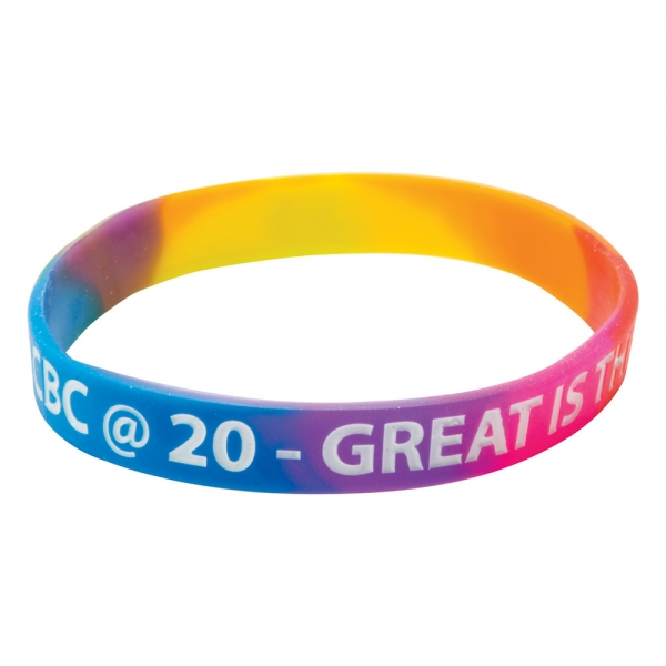 Silicone Wristbands (Multicoloured material)