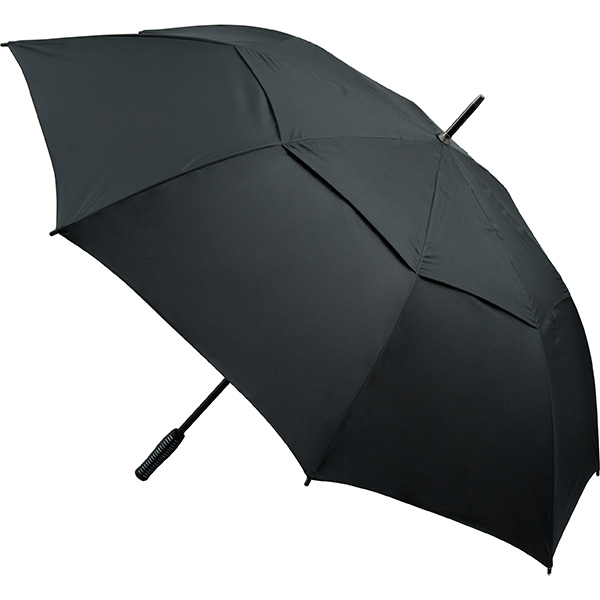 Automatic Opening Vented Golf Umbrella - Black