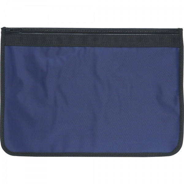 Nylon Document Wallets - Navy / Black Edging