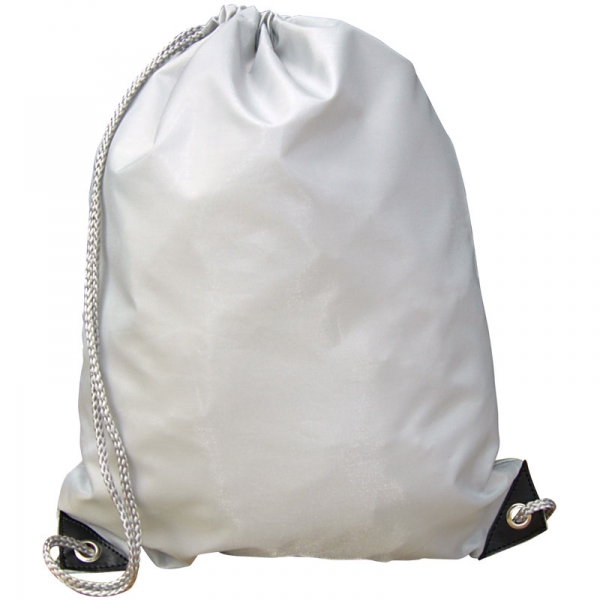 Nylon Drawstring Bag - Cool Grey