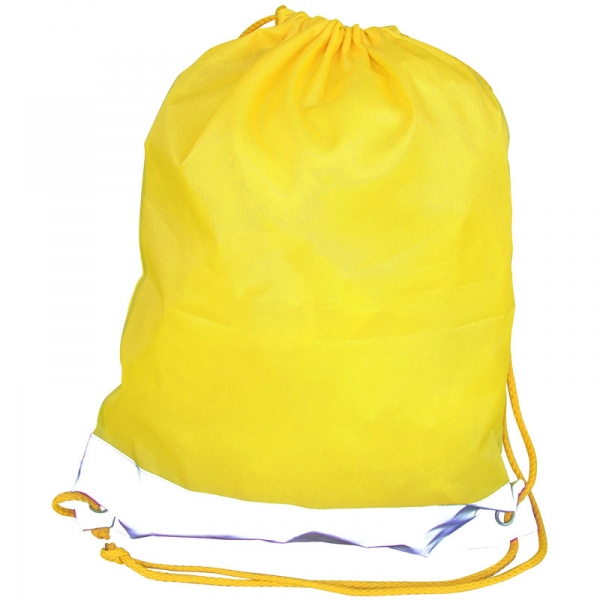 Reflective Drawstring Bag - Yellow
