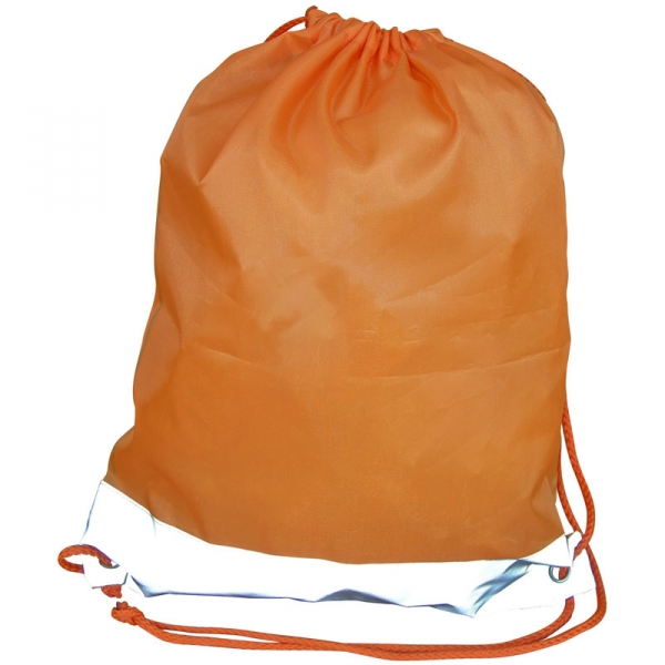 Reflective Drawstring Bag - Orange