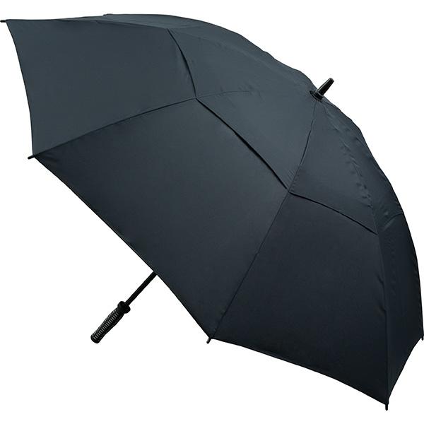 Vented Golf Umbrella - All Black