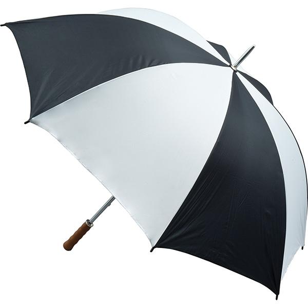 Quantum Golf Umbrella - Black and White