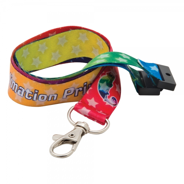 20mm Dye Sublimation Print Lanyard  UK Made  Express