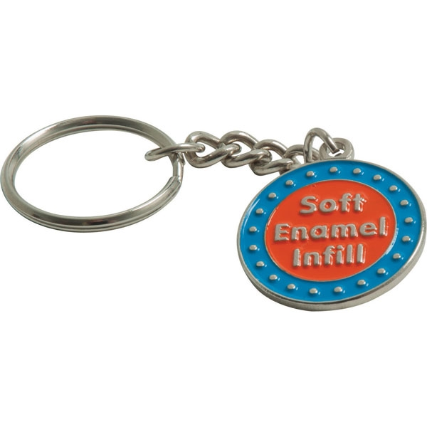 Stamped Iron Soft Enamel Keychain -40mm