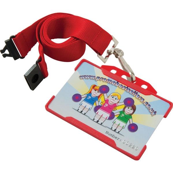 Rigid Card Holders Landscape Red