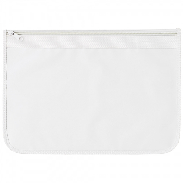 Nylon Document Wallets  All White