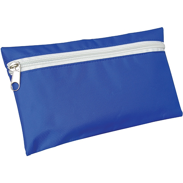 13377cfeee362c Nylon Pencil Case - Royal Blue (White Zip)