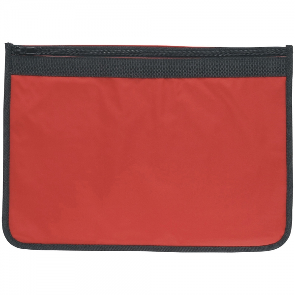 Nylon Document Wallet - Red / Black Edging