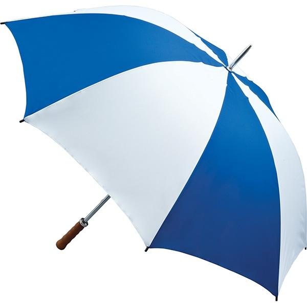 Quantum Golf Umbrella - Royal Blue and White