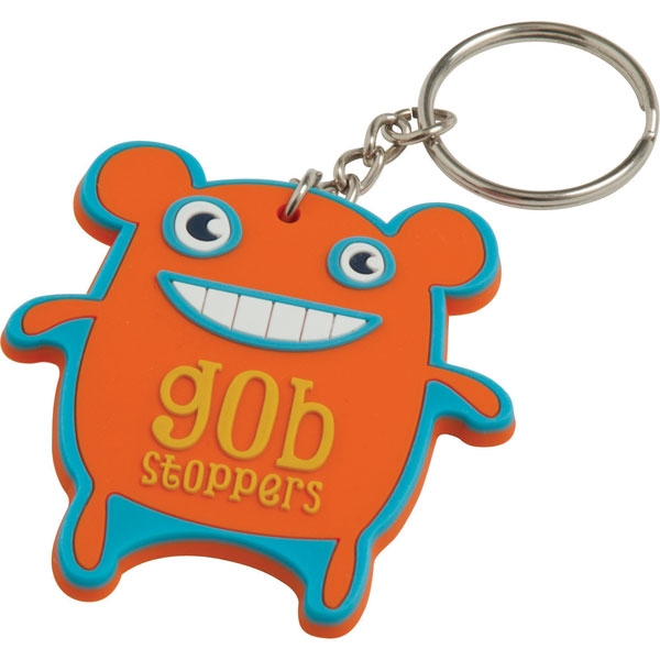 Soft PVC Keyring  60mm