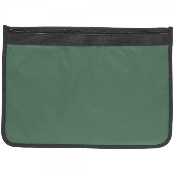 Nylon Document Wallets  Green/Black Edging