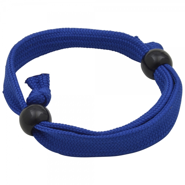 10mm Tubular Polyester Wristband  With Plastic Adjuster Beads