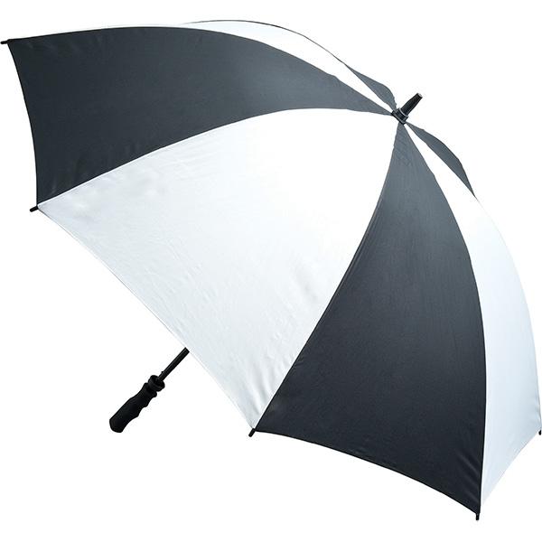 Fibreglass Storm Umbrella - Black and White
