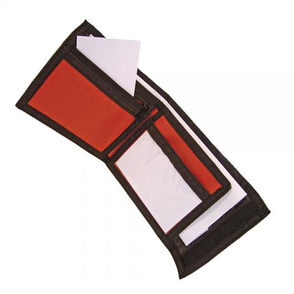 Nylon Ripper Wallet - Red