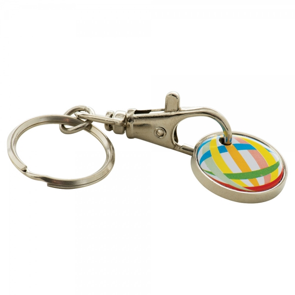 Trolley Coin Keyring Full Colour Print
