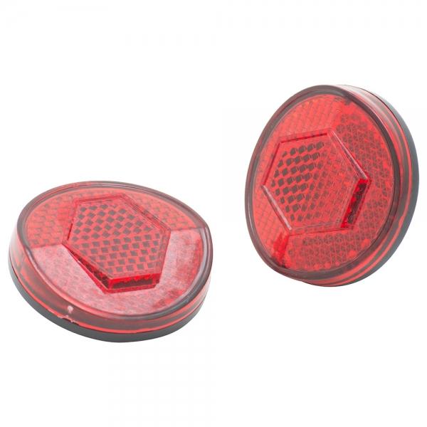Round Bike Reflectors  Red
