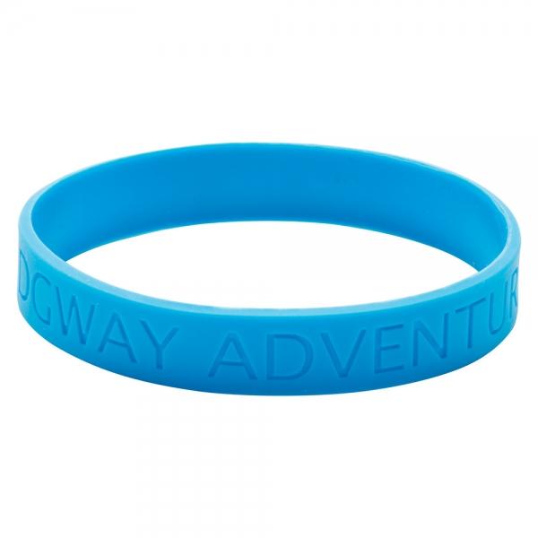 Silicone Wristband  Recessed design