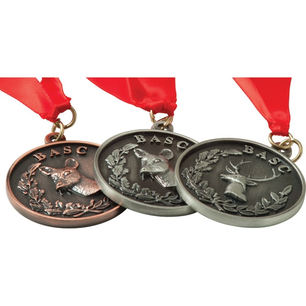 Alloy Injection and Nickel Plated Medal