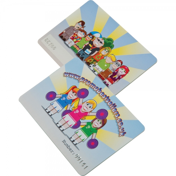 Printed Plastic Cards  125 x 80mm  0.76mm thick