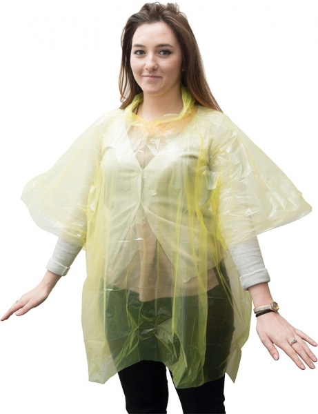 Disposable PE Poncho  Adult