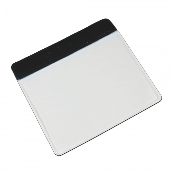 Clear PVC Wallets With Colour Header