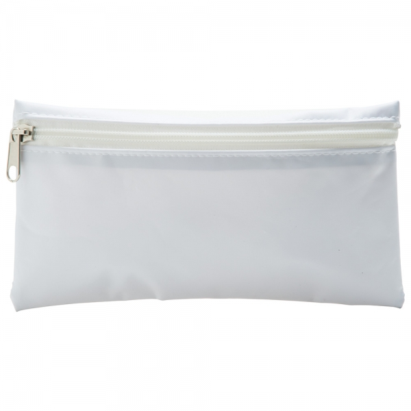 8f9262d77d3050 Nylon Pencil Case - White (White Zip)