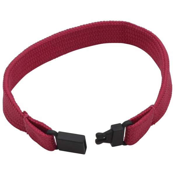 Tubular Polyester Wristband with Plastic Fastener