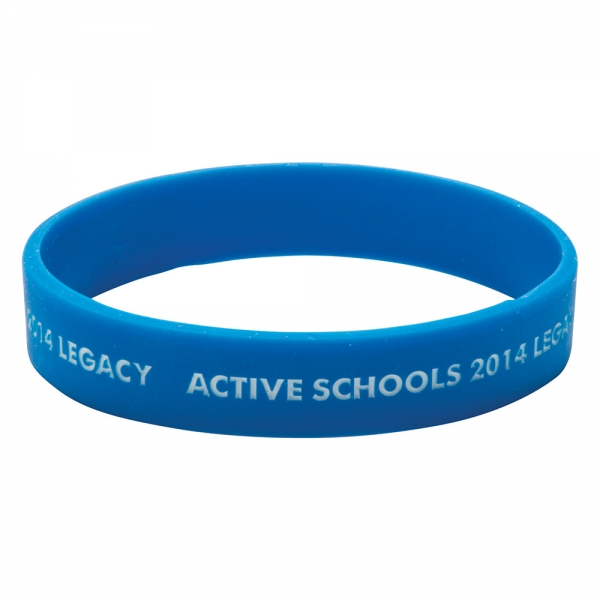 Silicone Wristband  Recessed   infilled design