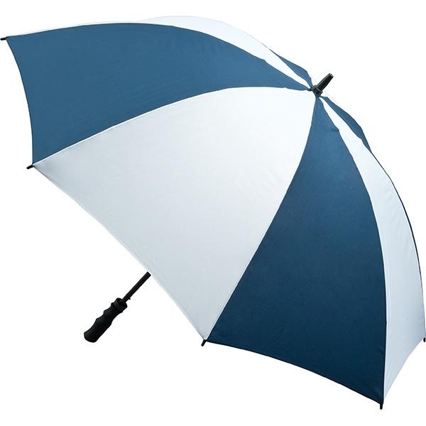 Fibreglass Storm Umbrella - Navy and White