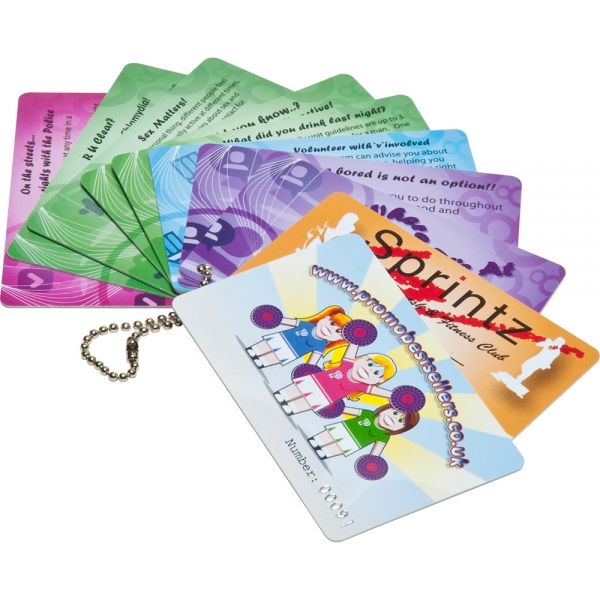 Printed Plastic Cards  54 x 30mm  0.76mm thick
