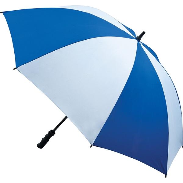 Fibreglass Storm Umbrella - Royal Blue and White
